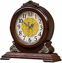 SHBV Mute Precision Wood Table Clock Fireplace