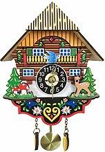 SHDT Antique Wooden Cuckoo Clock, Living Room Wall