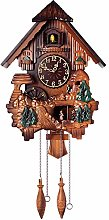 SHDT Creative Cuckoo Clock Carved Battery-Operated