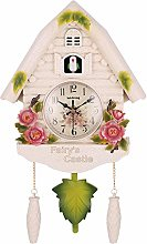 SHDT Cuckoo Clock with Adjustable Volume,Wooden