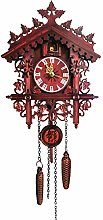 SHDT Wood Cuckoo Clock, Battery-Operated Wall