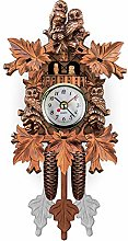 SHDT Wooden Cuckoo Clock,Traditional Chalet Black