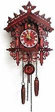SHDT Wooden Cuckoo Wall Clock,Traditional German