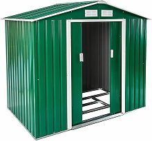 Shed with saddle roof - garden shed, metal shed,