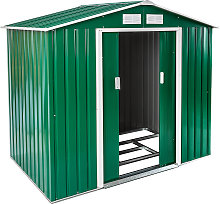 Shed with saddle roof - green