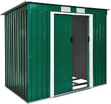 Shed with slanted roof - green