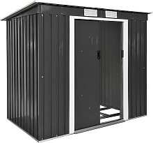 Shed with slanted roof - grey
