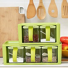 SHEDRWE 3 Compartment Spice Seasoning Box