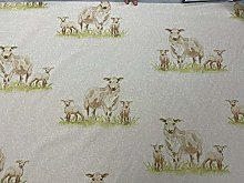 Sheep Country linen/Cotton140cm Wide Curtain