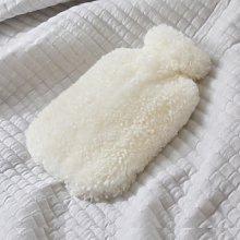 Sheepskin Hot Water Bottle, Ivory, One Size