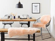 Sheepskin Peach Pink 65 x 110 cm Natural High Pile