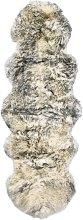 Sheepskin Rug 60x180 cm Dark Grey Melange