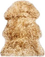 Sheepskin Rug 60x90 cm Brown Melange