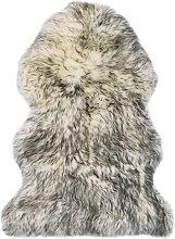 Sheepskin Rug 60x90 cm Dark Grey Melange