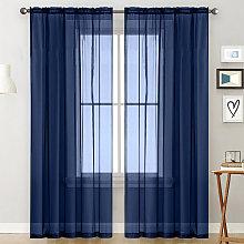 Sheer Curtains Living Room Rod Pocket Window