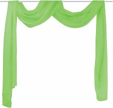 Sheer Voile Drape 140 x 600 cm Green QAH00438