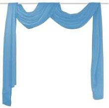 Sheer Voile Drape 140 x 600 cm Turquoise VD00439