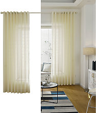 Sheer Voile Window Curtain with Ring Rod for