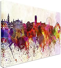 Sheffield skyline in watercolor 40x20inches,