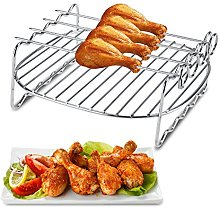 Shelf Air Fryer Double Layer Rack Baking Tray,