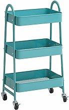 Shelf Cart Three-layer Plastic Floor Storage