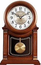 Shelf Clock Retro Wood Clock for Living Room Dcor