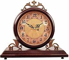Shelf Clock Vintage Wood Decorative Clock