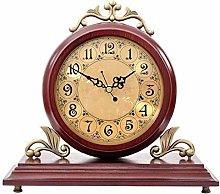 Shelf Clock Vintage Wood Decorative Fireplace