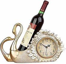 Shelf Clocks Countertop Table Clock for Wine Rack