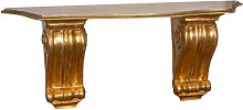 SHELF WITH GOLD LEAF FINISH WALL MADE IN ITALY