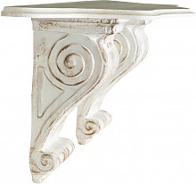 SHELF WITH WHITE ANTIQUED FINISH WALL MADE IN ITALY