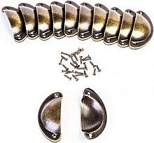 Shell Handle Drawer Handles Bronze Cabinet Handles