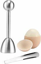 Shell Opener Hard Soft Boiled Egg Topper Set Egg