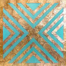Shell wall covering WallFace LU06-12 CAPIZ