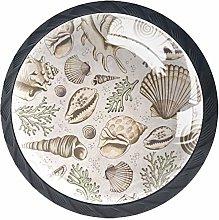 Shellscorals and Starfish 4 Packs Kitchen Cabinet