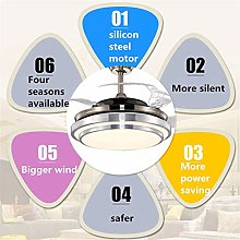 SHELLTB Ceiling Fans with Music Lights and