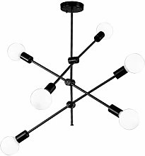 SHELLTB Modern Sputnik Chandelier, Metal Glass
