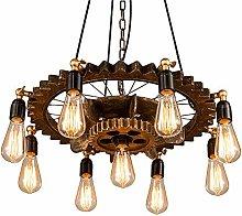 SHELLTB Retro Industrial Pendant Light, wrought