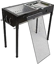 Shelves Adjustable BBQ Grill with Cooking Area