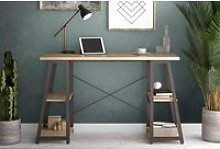 Shen Home Office Desk With A Frame (Oak)