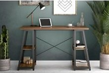 Shen Home Office Desk With A Frame (Walnut)