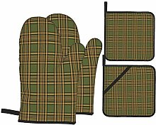 SHENGLIPINK Oven Mitts and Pot Holders Sets of