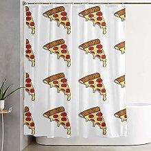 shenguang 70×70 Inch Pizza Pattern Shower Curtain