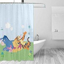 shenguang Bathroom Shower Curtain Happy Winnie The