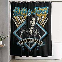 shenguang Billy Joel Fabric Shower Curtain Liner