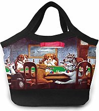 shenguang Dogs Playing Poker Lunch Bags -Portable