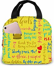 shenguang Golden Girls Quotes Insulated Lunch Bag