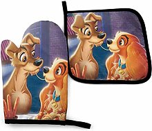 shenguang Lady and Tramp Oven Mitts and Pot