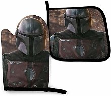 shenguang Mandalorian Oven Mitts and Pot Holders