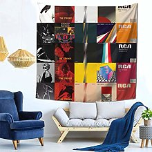 shenguang The Strokes Tapestry Colorful Black Wall